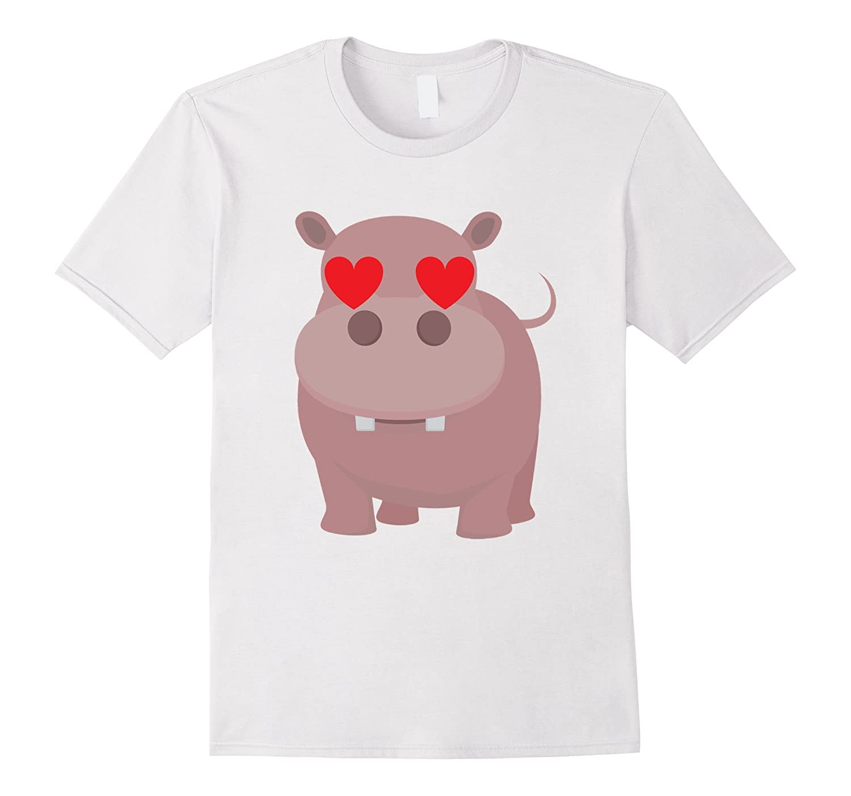 7223711ef Hippopotamus Emoji Heart Love Eye Shirt T-Shirt Hippo Tee-RT ...