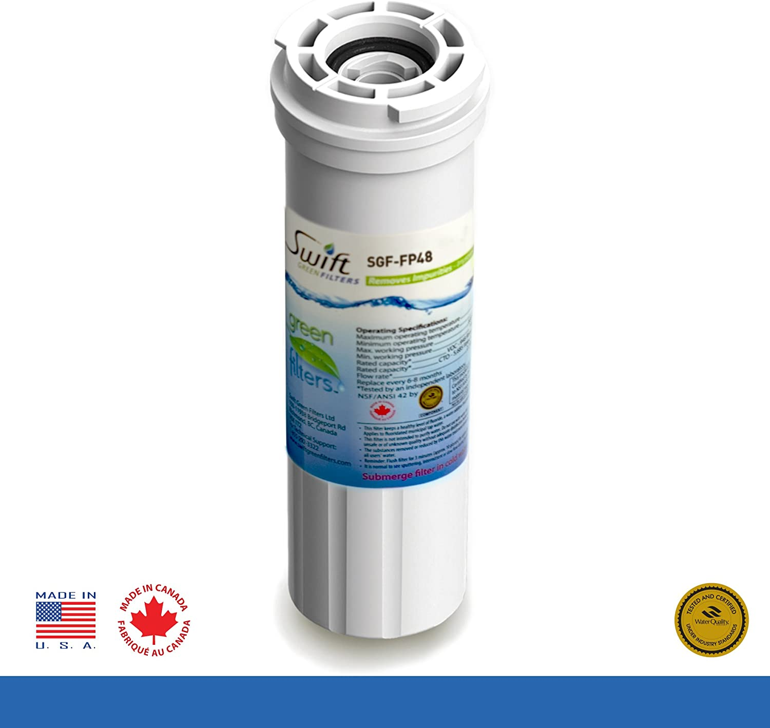 2 PK Carbon Block Drinking Water Filter Replacement for Lead Asbestos CTO Cysts