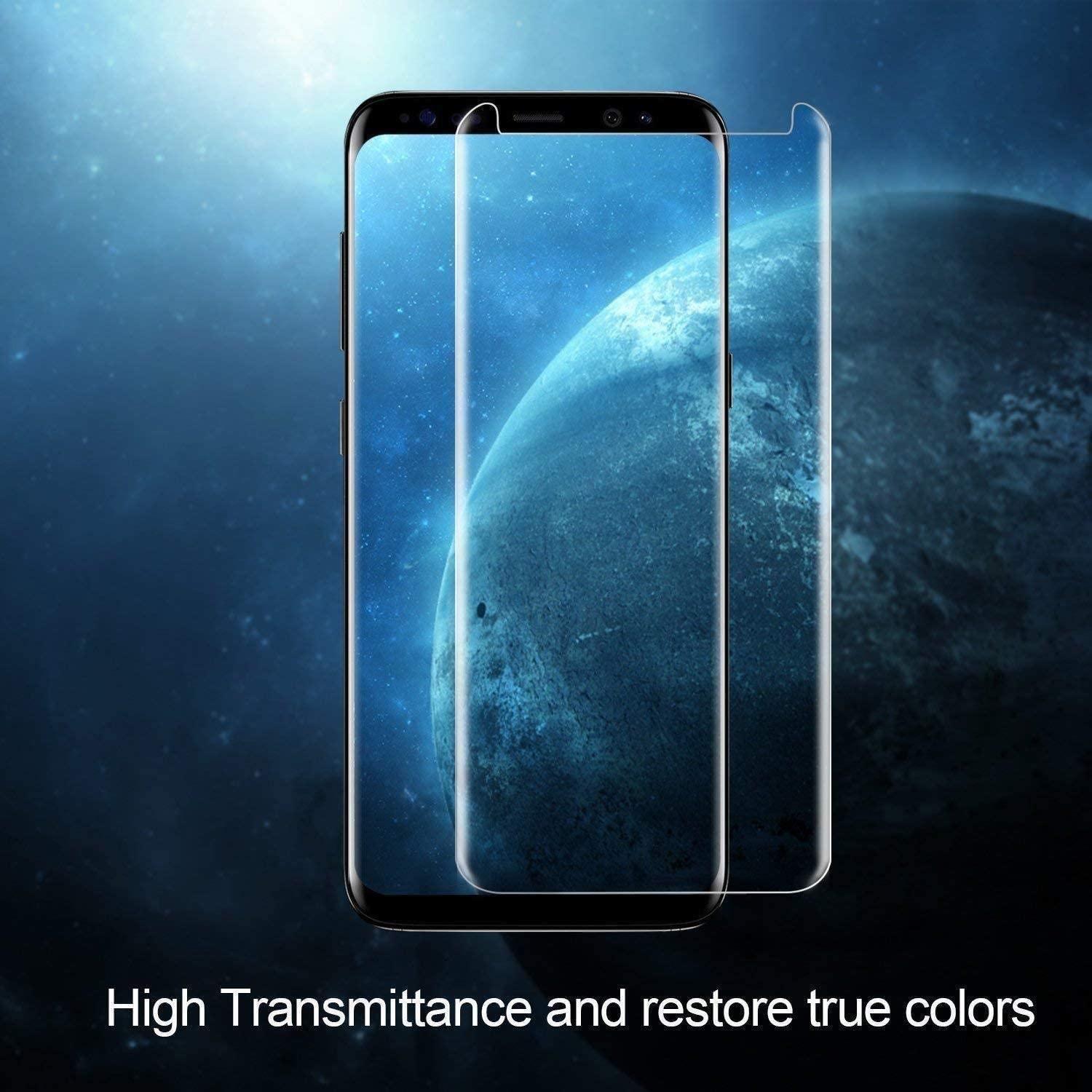 Galaxy S8 Screen Protector, (2-Pack) Tempered Glass Screen Protector [Force Resistant up to 11 pounds] [Full Screen Coverage] [Case Friendly] for Samsung S8