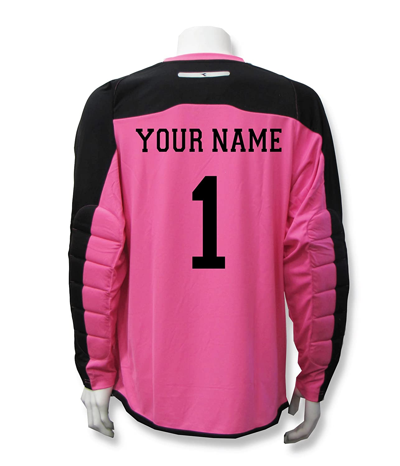 Diadora Enzo Goalkeeper Jersey Personalized with your name and number B01LX1PWX1 Medium|ピンク ピンク Medium