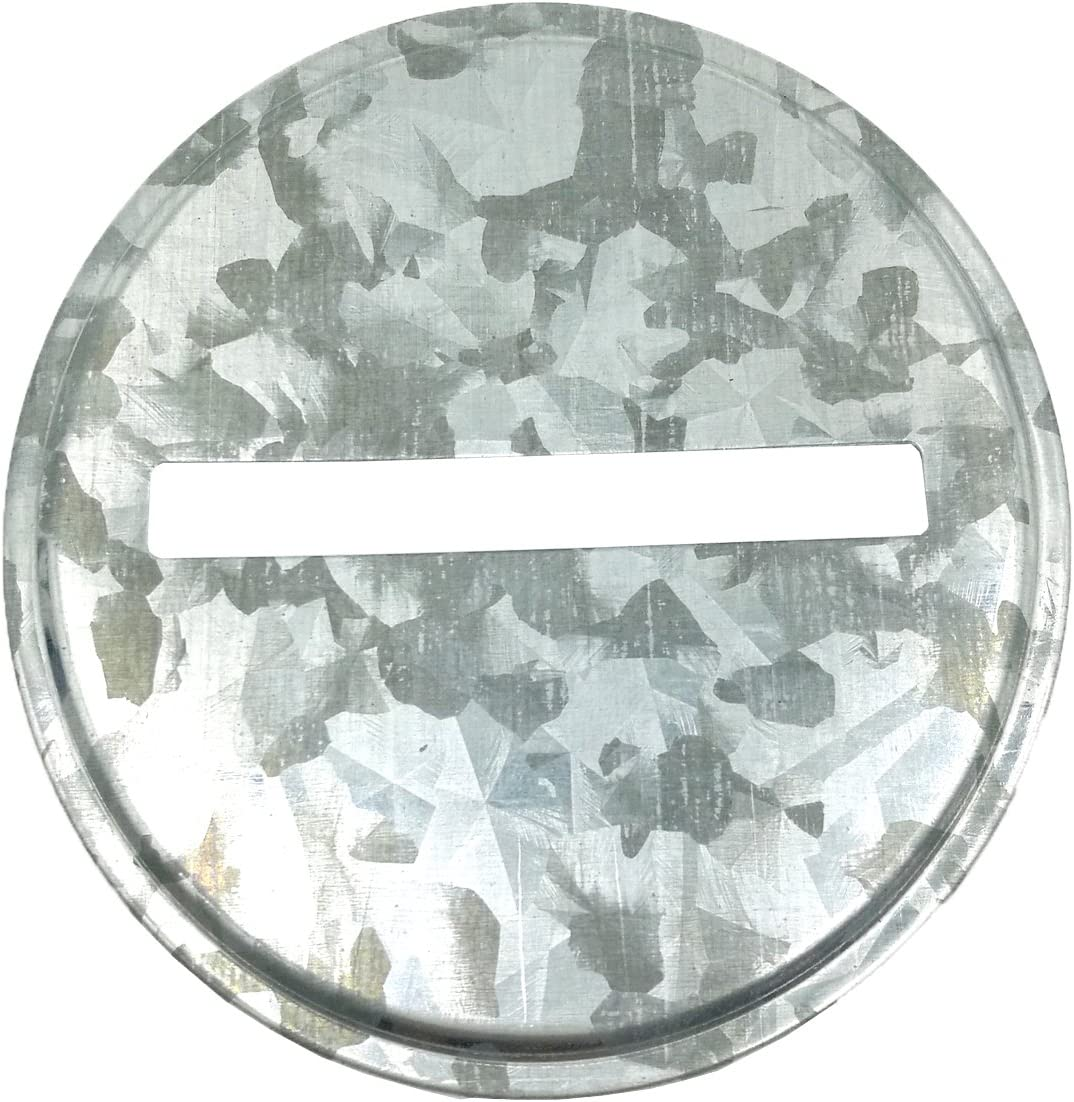 Rustic Silver Galvanized Metal Coin Slot Piggy Bank Lid Insert for Mason, Ball, Canning Jars (8 Pack,Wide Mouth)