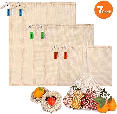 Reusable Bag Shopping Storage Bags Produce Mesh Fruit Vegetable Eco-friendly TOP