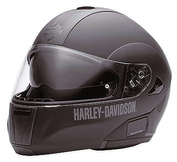 Harley-Davidson EC-98211-10E - Casco modular con visera solar, mate