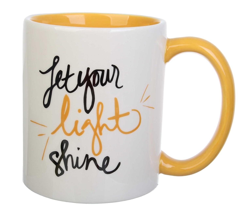 Large Set of 4 Multicolor Formation Brands 16 oz Light Shine C Can Mug