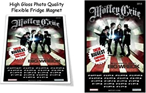 "Motley Crue 2013 Concert Poster 3""X4"" Flexible Fridge Magnet, High Gloss Photo Finish"
