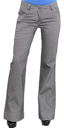 offizielle Bilder gemütlich frisch Schnäppchen für Mode Sotala Damen Stoff Hose Schlaghose Bootcut Stretchhose ...