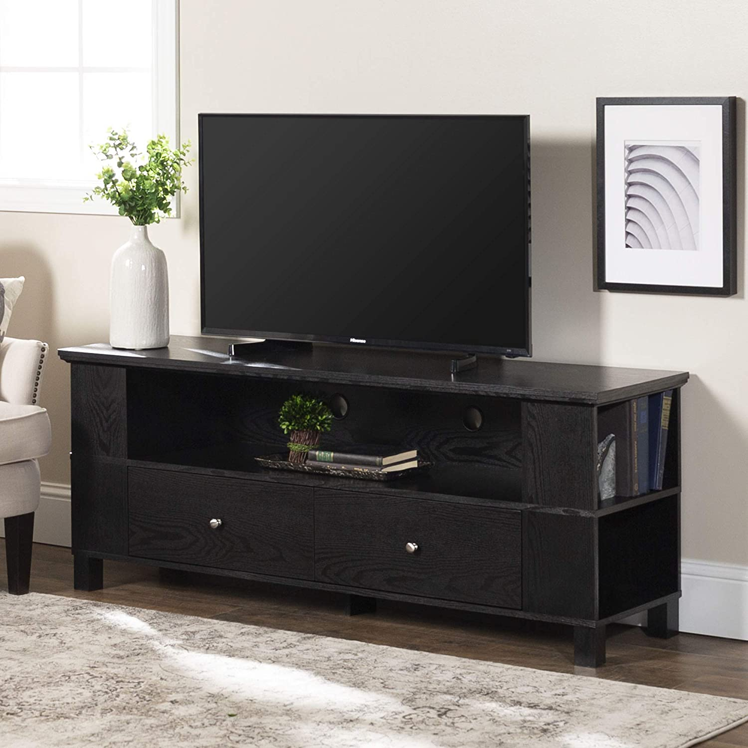 Amazon Com Walker Edison Rustic Tv Stand And Living Room Storage For Tv S Up To 66 Furniture Decor