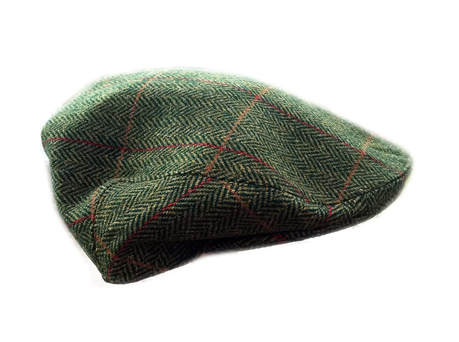 2e751f0e64053 Lawrence   Foster Ltd Hand Tailored Tweed Garforth Flat Cap Loxley Green  Herringbone British Made  Amazon.co.uk  Clothing