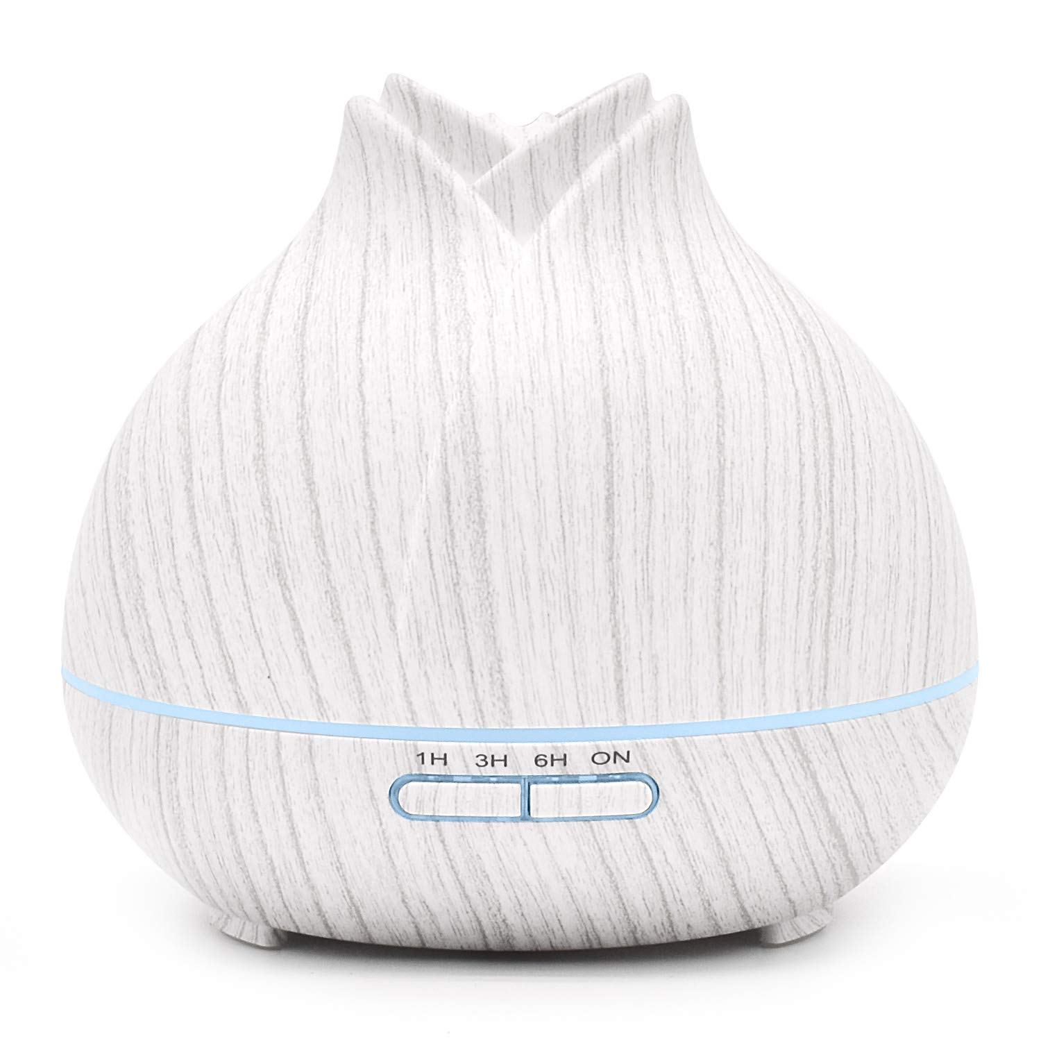 ASAKUKI Essential Oil Diffuser 400ml, Aromatherapy Fragrant Oil Vaporizer Humidifier with Fine Mist. Moisturize skin, Relieve Stress, Purify air with Soothing Night Light for Home Office