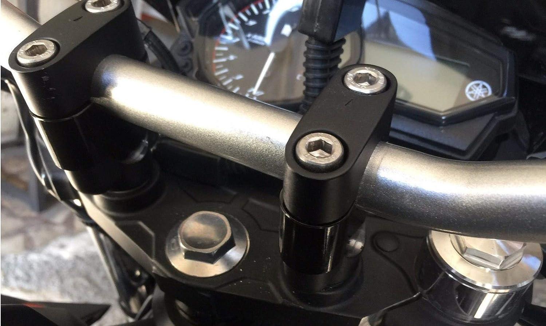 Bay4Global GY-XL600V.TR.25S elevadores de manillar de motocicleta para Honda XL600V Transalp 25 mm m/ás negro