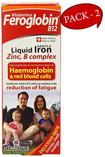 Feroglobin Vitabiotics -B12 Iron Supplement Liquid 200ml