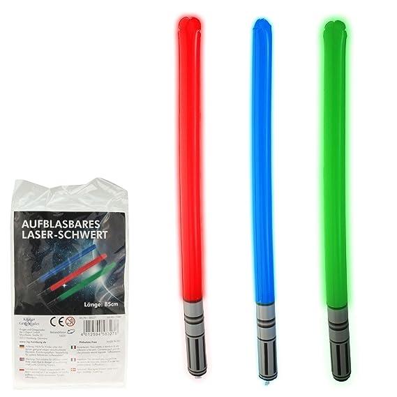 3 Piezas hinchable Láser Espada 85 cm, Espada láser, espada láser ...