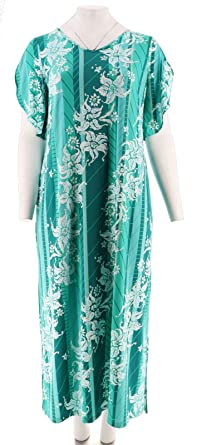 Bob Mackie Floral Printed Tulip Slv Knit Maxi Dress A290712 Green