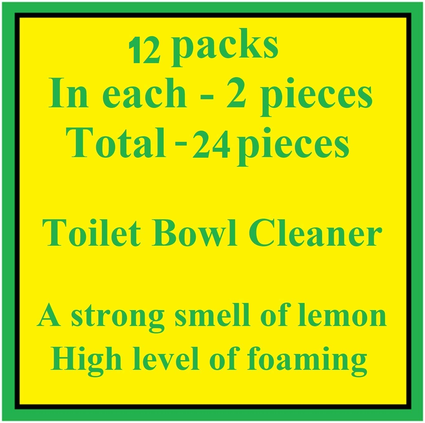 Automatic Toilet Bowl Cleaner Lemon 2 pcs with Stronger Long-Lasting Lemon Scent at Full 5%. Foaming 5-in-1 Cleaner deep Cleans with Every Flush … (12) by Beseder (Image #3)