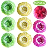 Elastic Food Storage Covers Plastic Wrap Bowl Covers Alternative to Foil for Outdoor Picnic 3 Size (60)