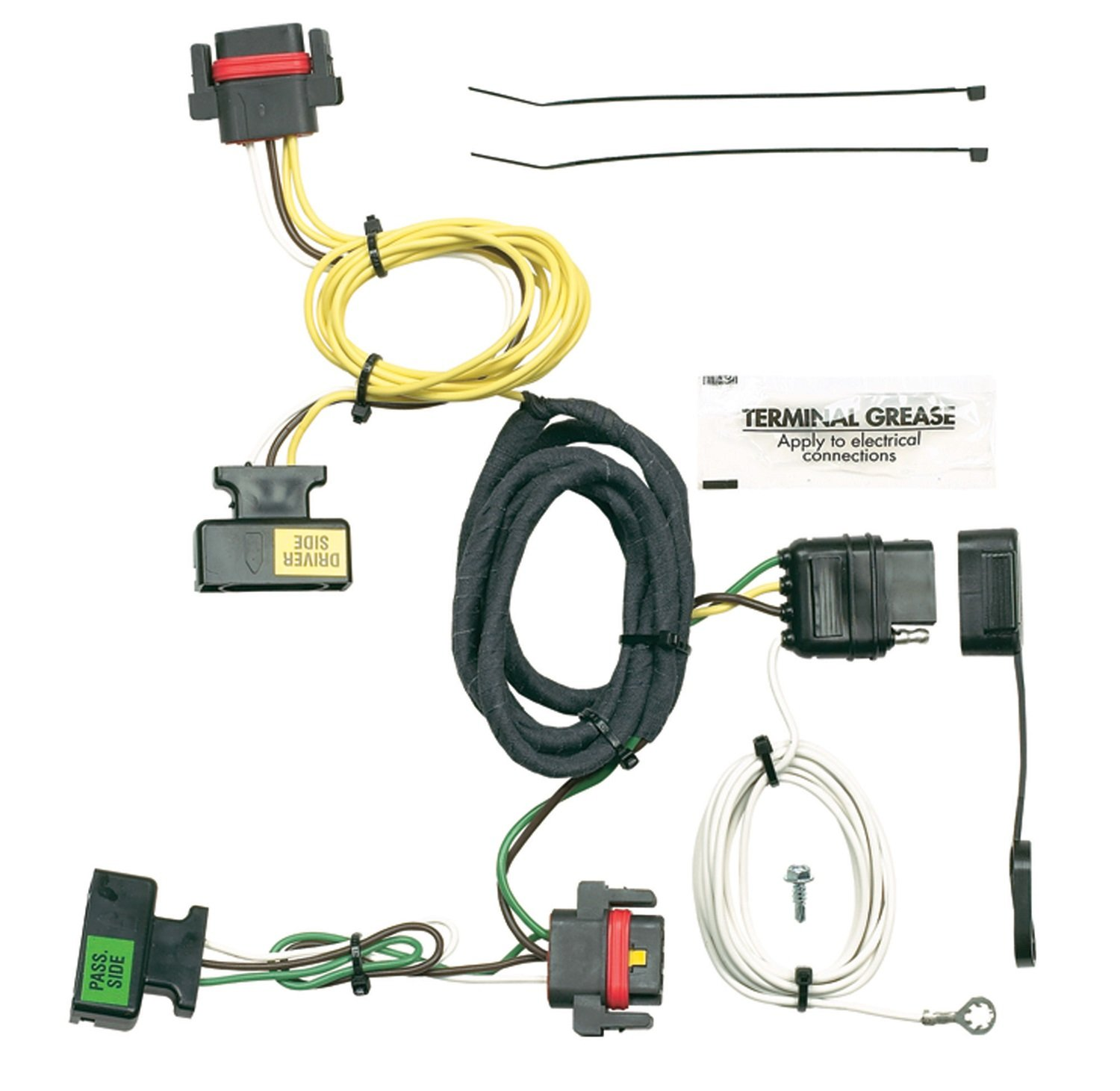 71ekqzTYnXL._SL1500_ amazon com hopkins 42205 plug in simple vehicle wiring kit 2005 dodge dakota trailer wiring harness at pacquiaovsvargaslive.co