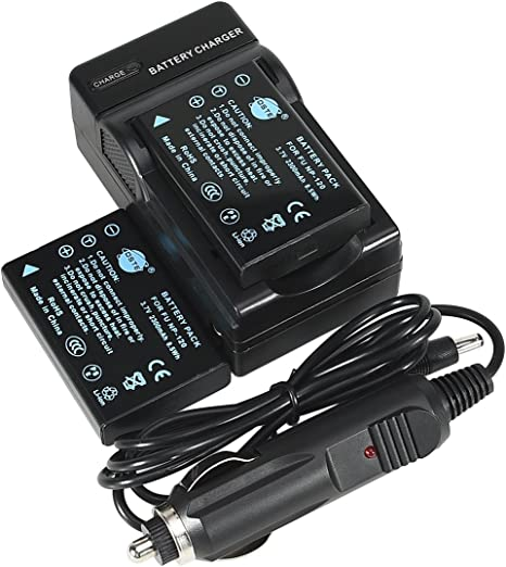 Amazon.com: DSTE® 2 x Batería NP-120 + DC29 Viajes y ...