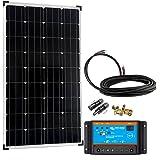 Offgridtec Solaranlage Basic-Starter Bausatz mit Modul, Kabeln und Laderegler, 150 W, 12 V, 002625