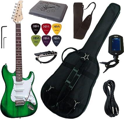 Pack Guitarra Eléctrico, afinador electrónico, funda.(5 accesorios ...
