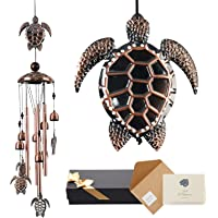Floridliving Turtle Wind Chimes with Clear Sound,Memorial Wind Chimes for Outside, Extra Large Wind Chimes with Greeting…