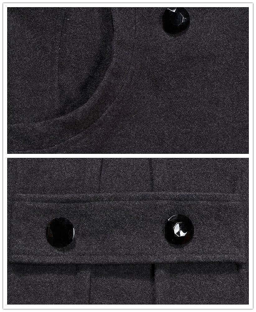 MD-Long Cotton-Padded Trench Coat Winter Woolen Peacoat ACE SHOCK Hooded Wool Jacket for Women