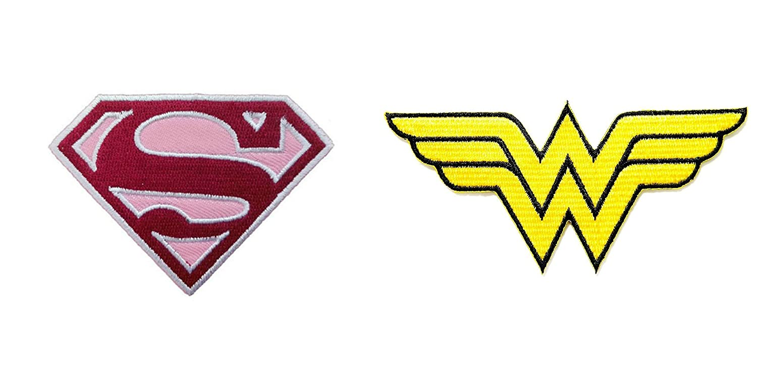 DC Comics Supergirl Logo 3 and Wonder Woman 5 Logo (2PK) Iron/Sew-on Patches