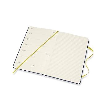 Amazon.com: Moleskine Cuaderno semanal de 12 meses, tamaño ...