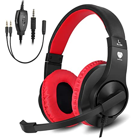 BUTFULAKE Stereo Gaming Headset for PS4, Xbox One, Nintendo Switch,  Adjustable Earmuffs and OVER-ALL Noise Isolation, Lightweight 3 5mm Wired  Volume