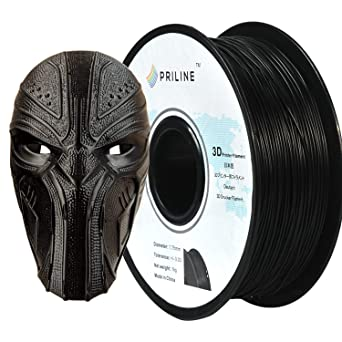 Dimensional Accuracy +//- 0.03 mm PRILINE Carbon Fiber PLA 1KG 1.75 3D Printer Filament 1kg Spool 1.75 mm,Black