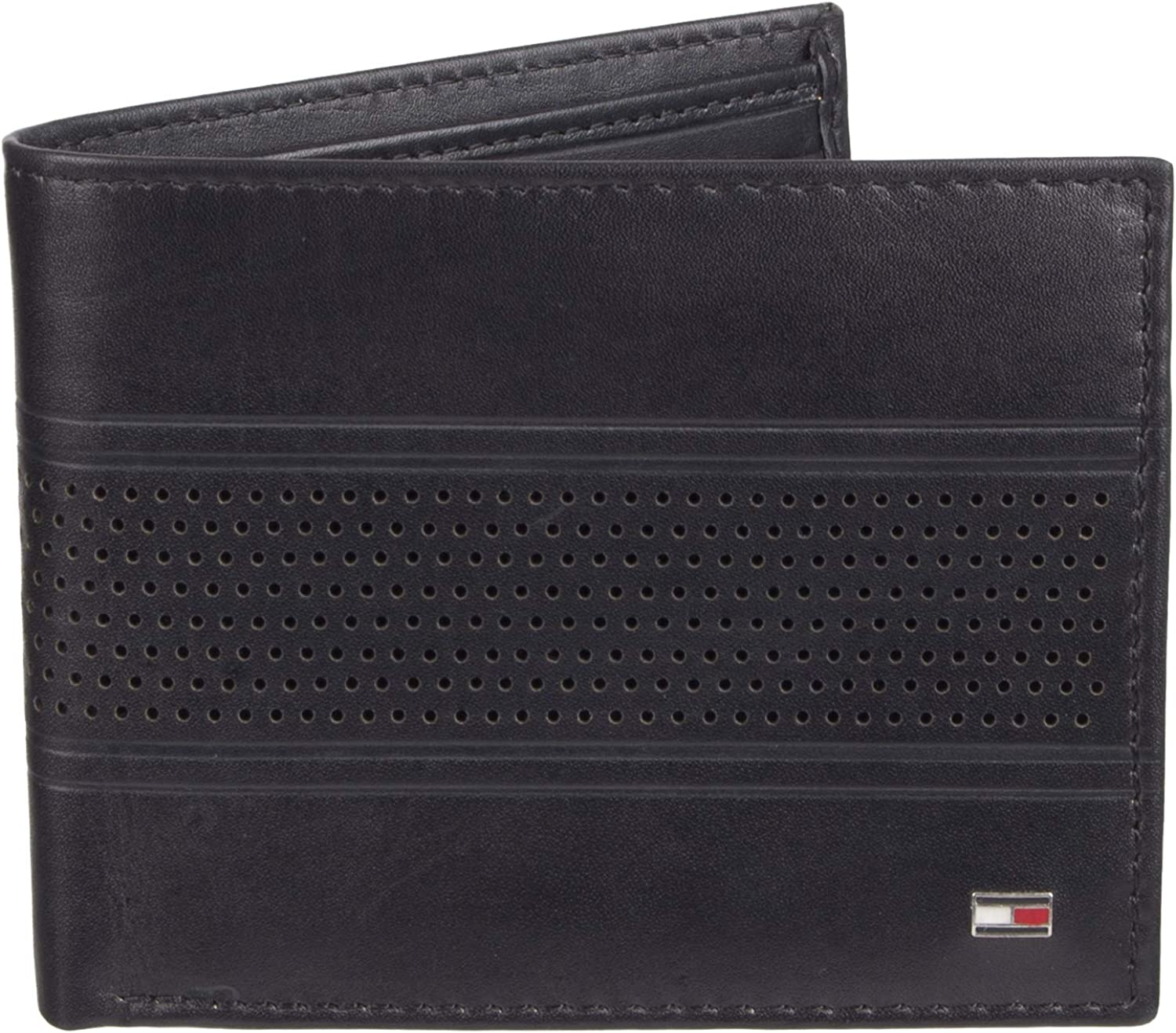 Tommy Hilfiger Mens Leather Bold Passcase Billfold Wallet Tommy Hilfiger Men/' s Accessories 31TL22X046