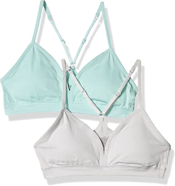 Hanes Big Girl's Comfort Flex Fit Seamless On The Go Racerback Bra 2-Pack Bra