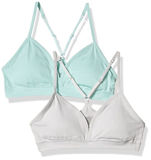 801b2d110ac84 Hanes Girls Big Girls Comfort Flex Fit Seamless on The Go Racerback Bra 2- Pack  Amazon.ca  Clothing   Accessories