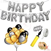 Party Propz 55Pcs Birthday Decoration Items Combo for Happy Birthday Decoration Items Boys,Girls,Husband,Wife and Adults