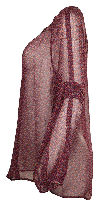 0039 Italy Women Blouse purple/yellow/blue Desiree 221027-0001