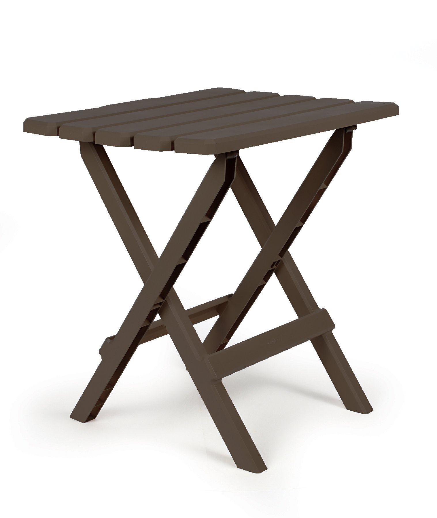 Camco 51886 Mocha Large Adirondack Portable Outdoor Folding Side Table, Perfect for The Beach, Camping, Picnics, Cookouts and More, Weatherproof and Rust Resistant by Camco