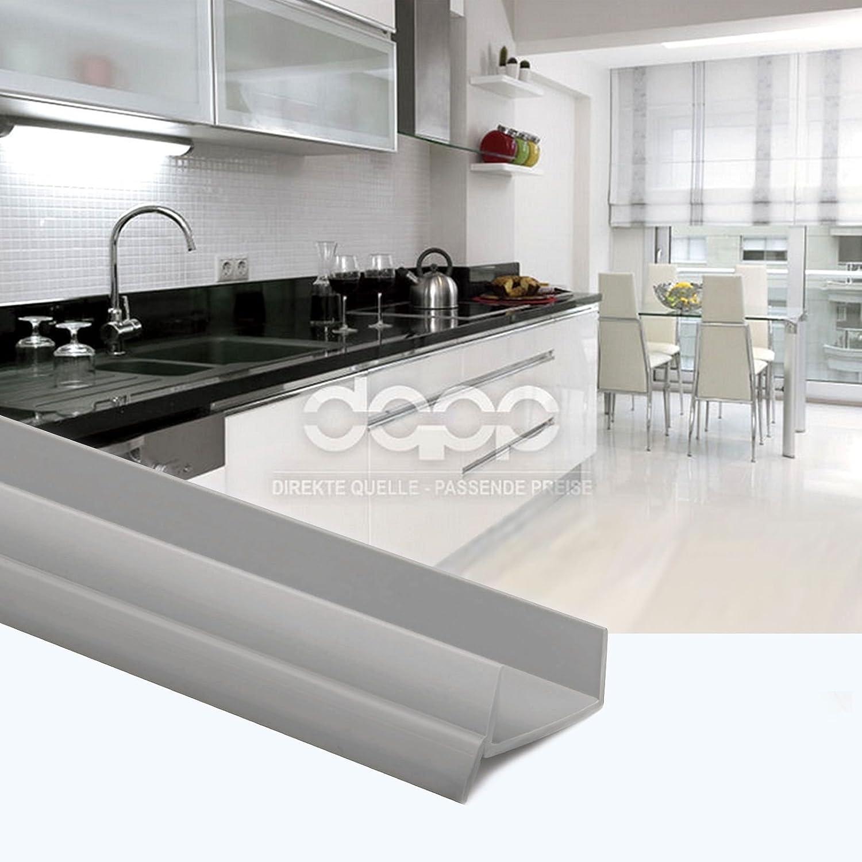 Plinthe Mdf Dans Salle De Bain ~ 1 5m pvc bavette de plinthe 18mm cendre grise cuisine planche mdf