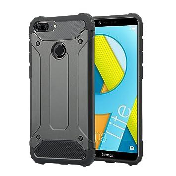 Huawei Honor 9 Lite Funda, Electro-weideworld [Doble Capa] TPU + PC Carcasa de Protección Hibrida Armadura Funda para Huawei Honor 9 Lite
