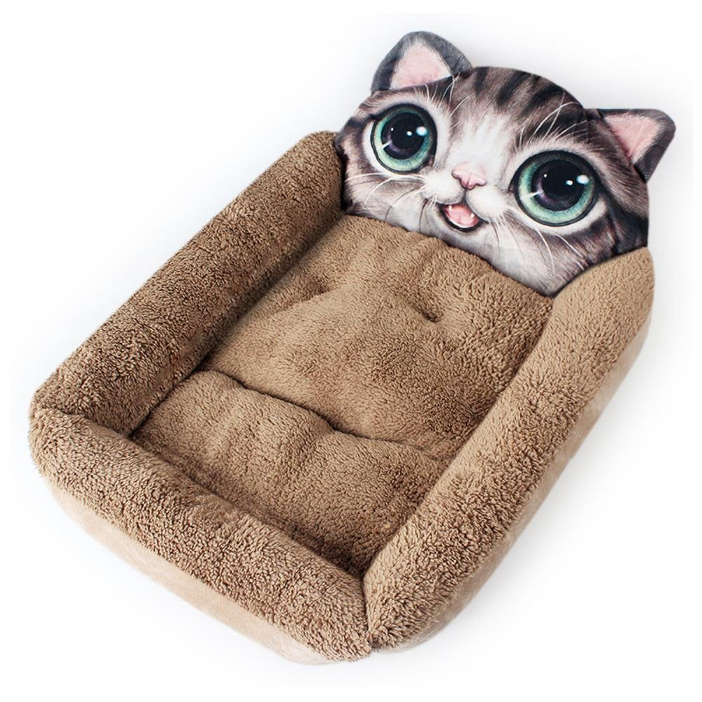 A Lozse Pet Beds Animal Fang wo Pet three-dimensional kennel mat short plush +pp cotton for Dogs and Cats Sleeping Cushion