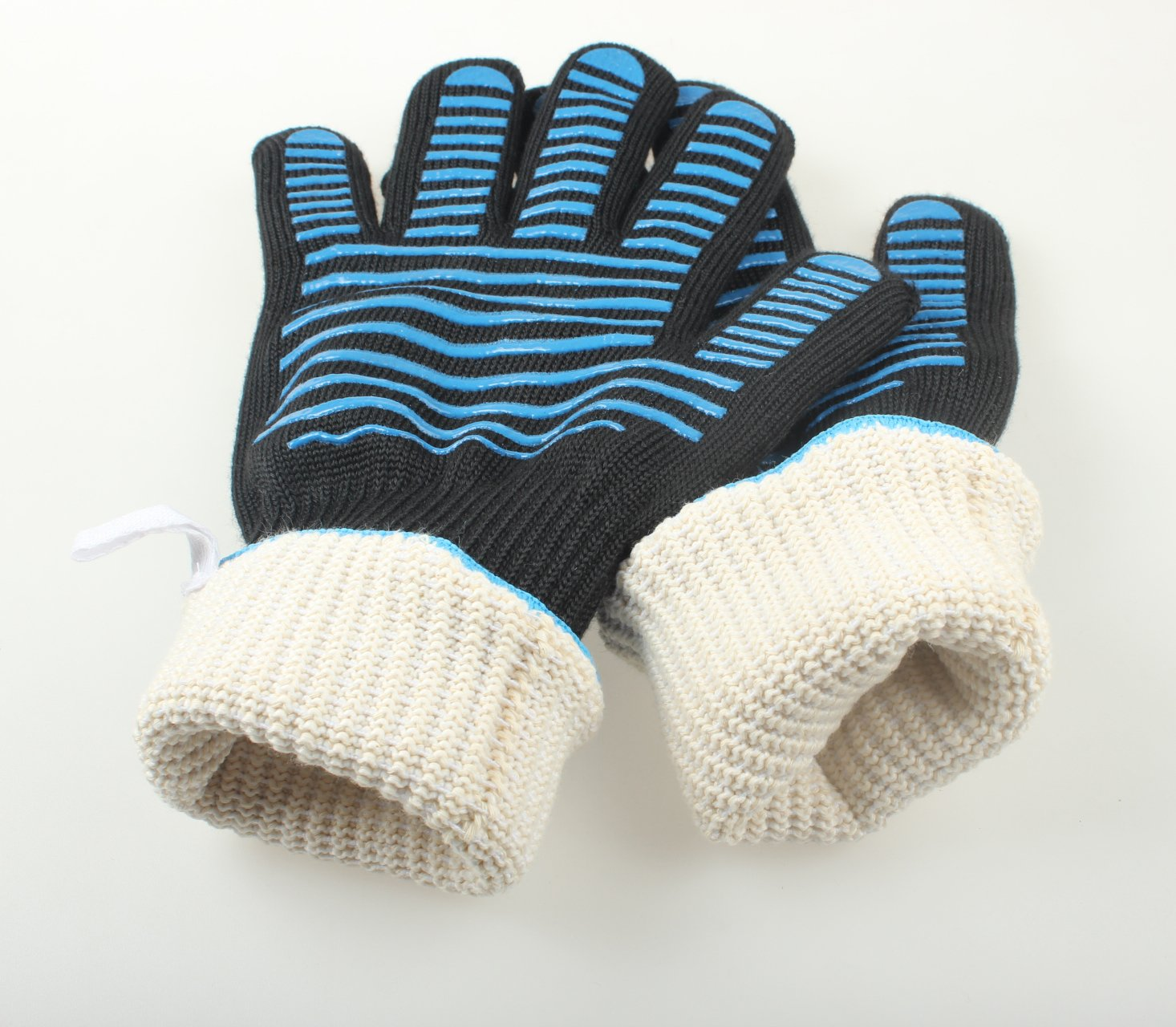 Nomex &Silicone Heat Resistant Oven Gloves,Long Sleeve Oven Gloves With FingersFor Grilling,Cooking, Baking,1 Pair by ARCLIBER (Image #4)