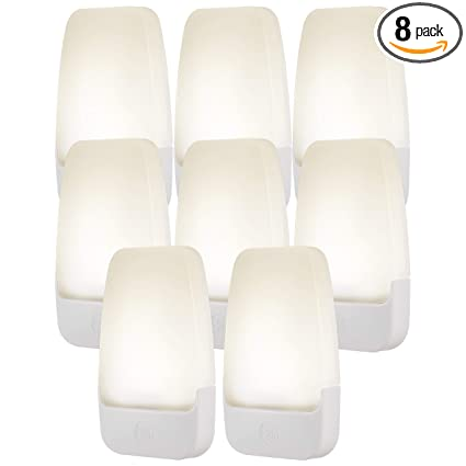 Ge Led Plug In Night 8 Pack Automatic Light Sensing Auto On Off Soft White Energy Efficient Ideal For Entryway Hallway Kitchen Bathroom