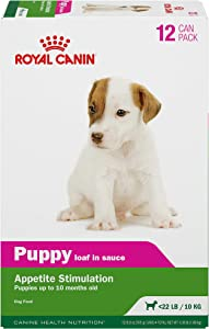 Royal Canin Canine Health Nutrition Puppy Loaf in Sauce Canned Dog Food, 5.8 oz, (Pack of 12)