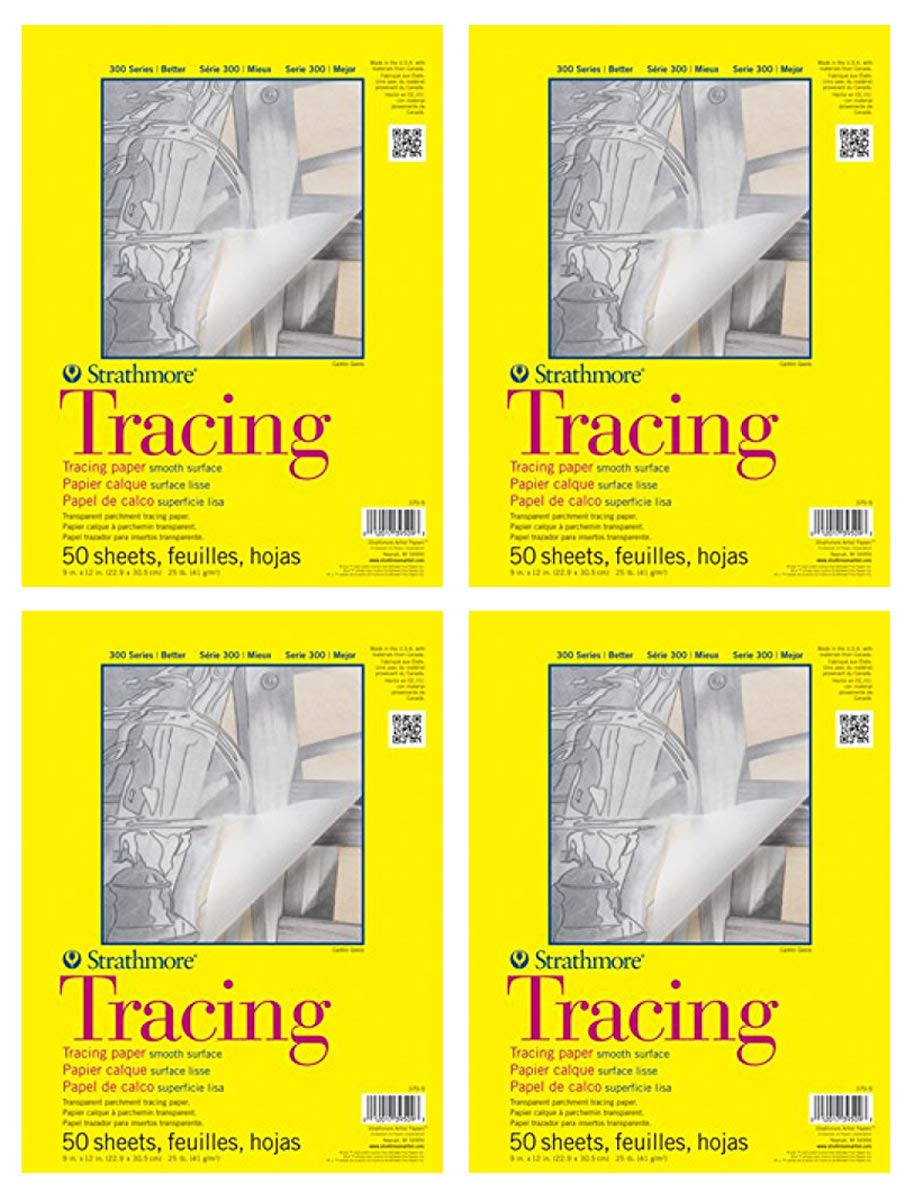 Strathmore MNG 300 Tracing Pad 11X14 50 Sheets 4 Pack by Strathmore
