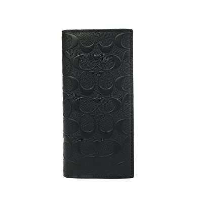 8b8636ff82342 Amazon.com  COACH MENS BREAST POCKET WALLET IN SIGNATURE CROSSGRAIN LEATHER  BLACK F75365 BLK  Shoes