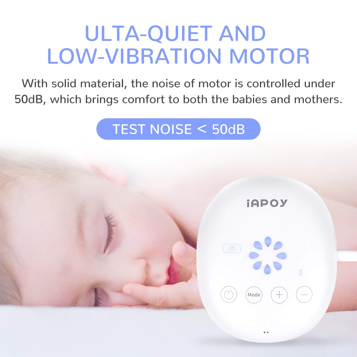 Electric Breast Pump - Breastfeeding Pump with Automatic Mode & Breast Massage HD LED Display Touch Screen - Electric Single Breast Pump BPA Free, 110V-230V by iAPOY