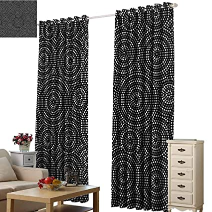 Amazon.com: Cute Blackout Curtains Black and White ...