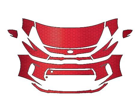 Kia Rio 2018 3 m Scotchgard Pro Serie Troquelada Lámina Protección de pintura transparente sujetador Kit
