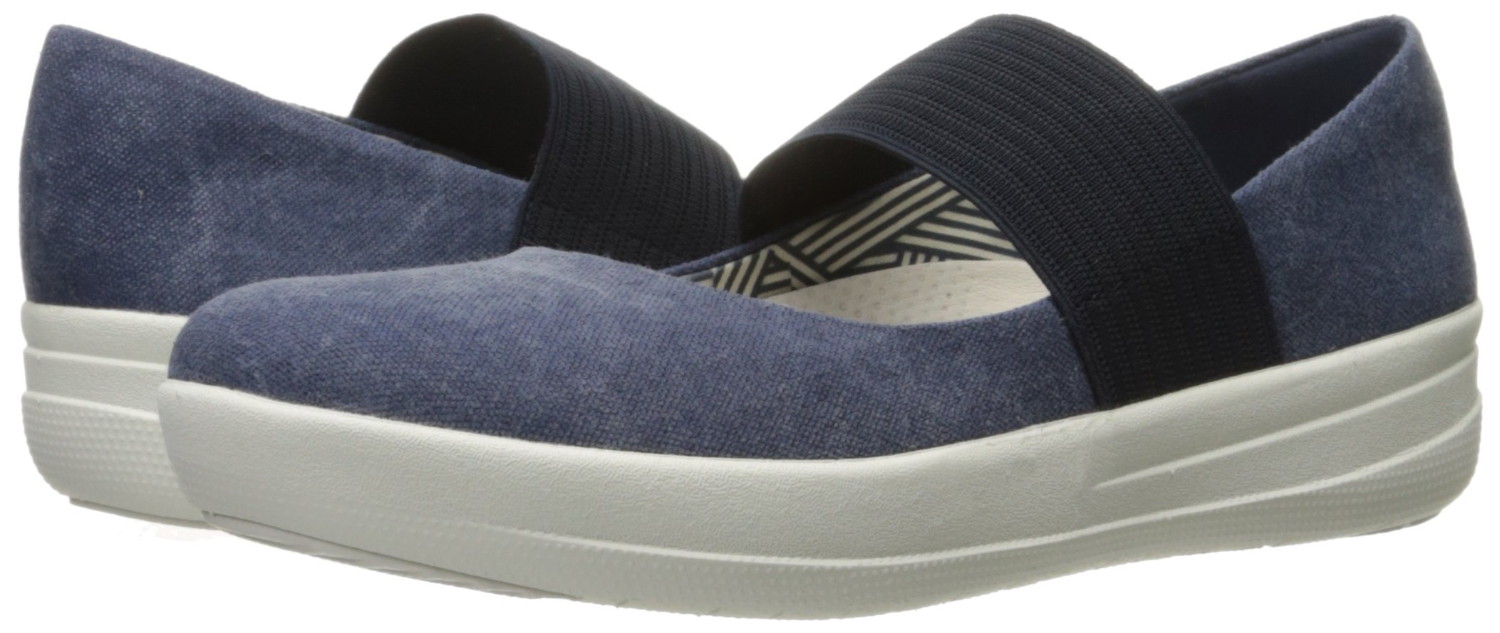 FitFlop Women's F-Sporty Mary Jane Flat, Midnight Navy, 6.5 M US by FitFlop (Image #6)
