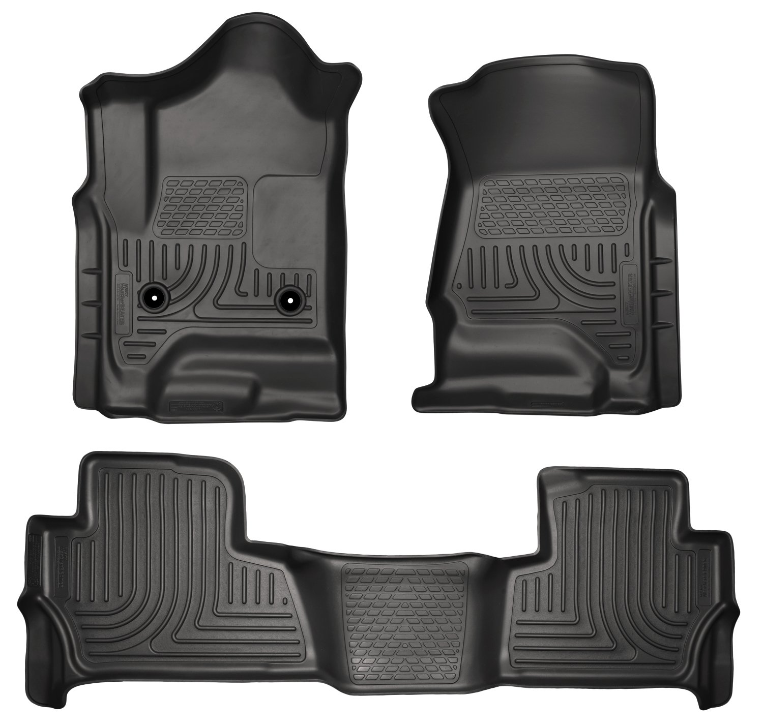 Floor mats yukon 2015 - Amazon Com Husky Weatherbeater Floor Mats Liners Black Front Rear Footwell Coverage Automotive