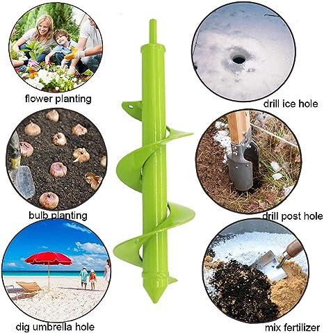 Codirom Auger Bohrer zum Pflanzen 1,6 x 18/& 3 x 18 Gartenbohrer Spiralbohrer Gartenpflanze Auger Hole Digger f/ür 3//8Hex Driver Drill 2-in-1 Set
