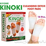 Gadget Hero's Kinoki Cleansing Detox Foot Patches 10 Adhesive Pads Kit Natural Unwanted Toxins Remover